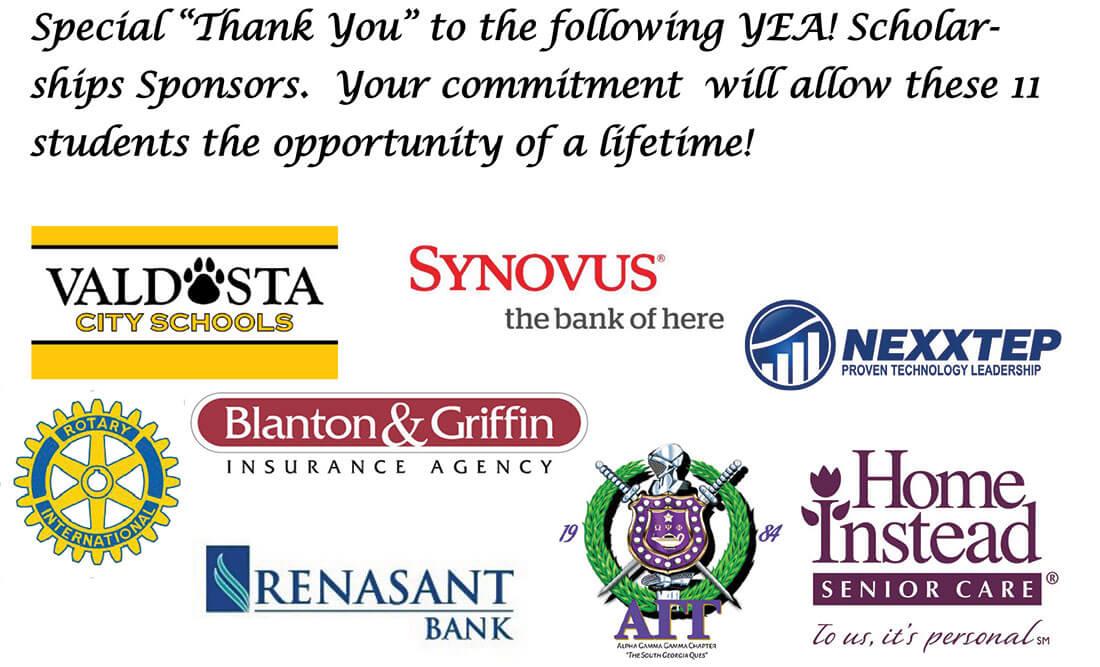 YEA! Scholarship Sponsors